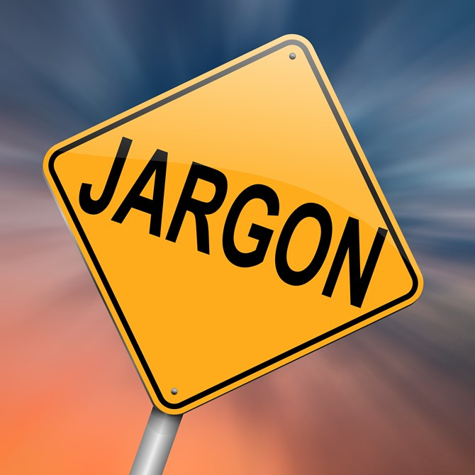 Jargon traffic sign