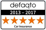 5 star defaqto rated car insurance 2013 - 2017