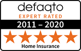Defaqto 5 star rating 2011-2020 home insurance logo