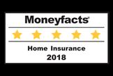 Moneyfacts Home insurance 5 star 2018 logo