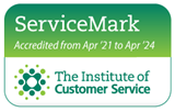 ServiceMark Accredited by the Institute of Customer Service logo 2021 - 2024