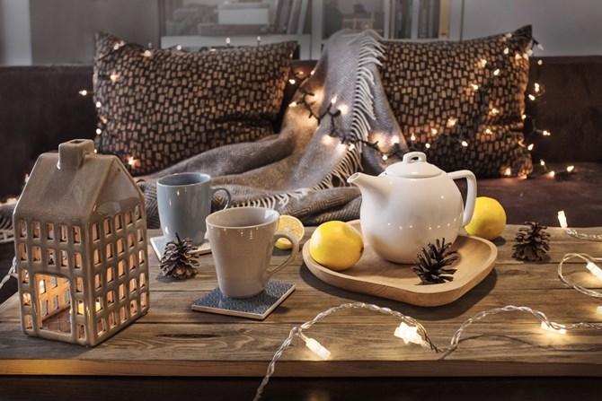 Christmas living room setting