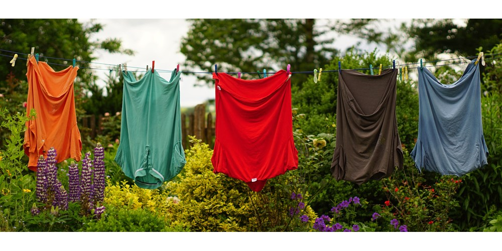 Clothes on washing line