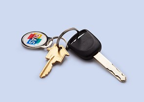 A set of keys with a Rias keyring