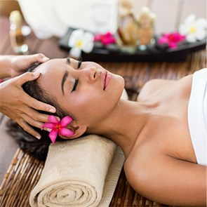 A woman having a spa treatment