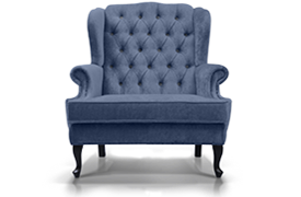 A grey armchair