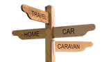 Wooden road traffic sign with insurance types