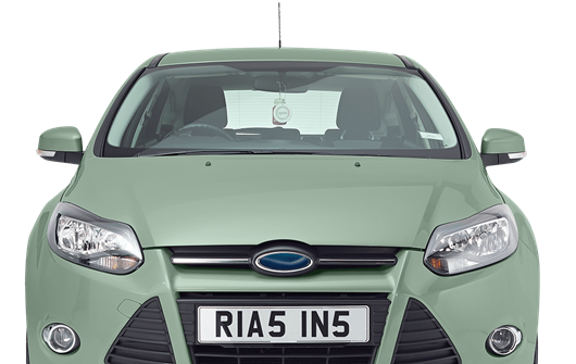 Mint coloured car with Rias personalised plate