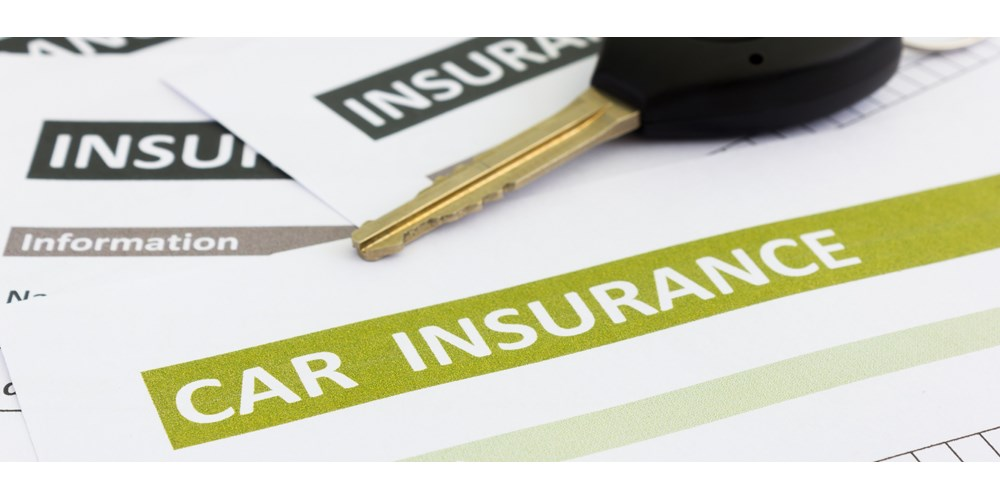 Car insurance forms and car key