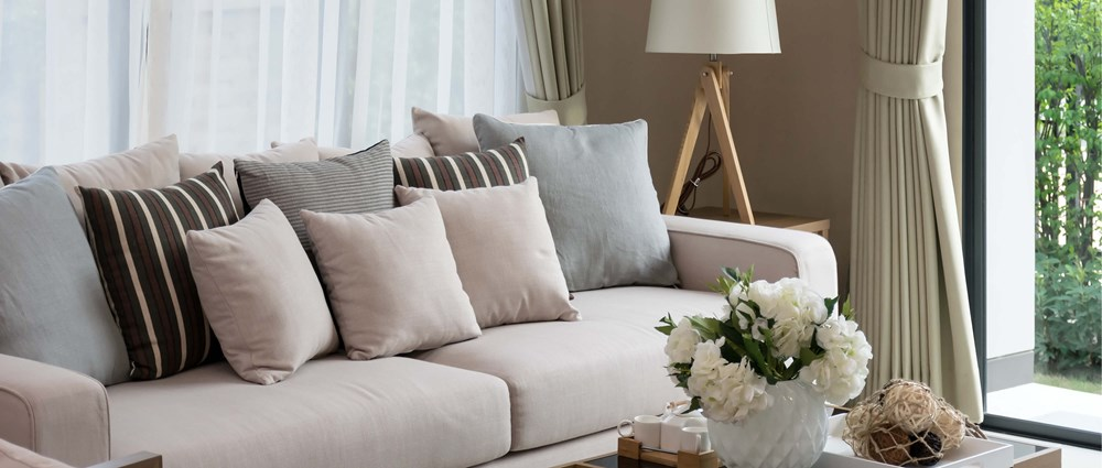 A cream coloured living room