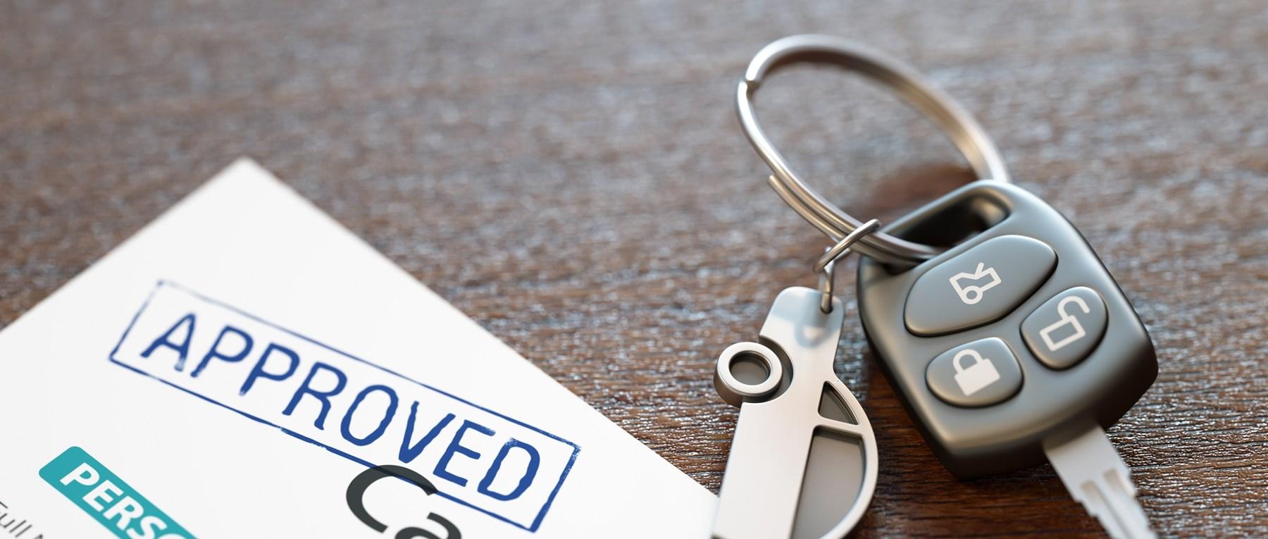 Car keys by car finance form