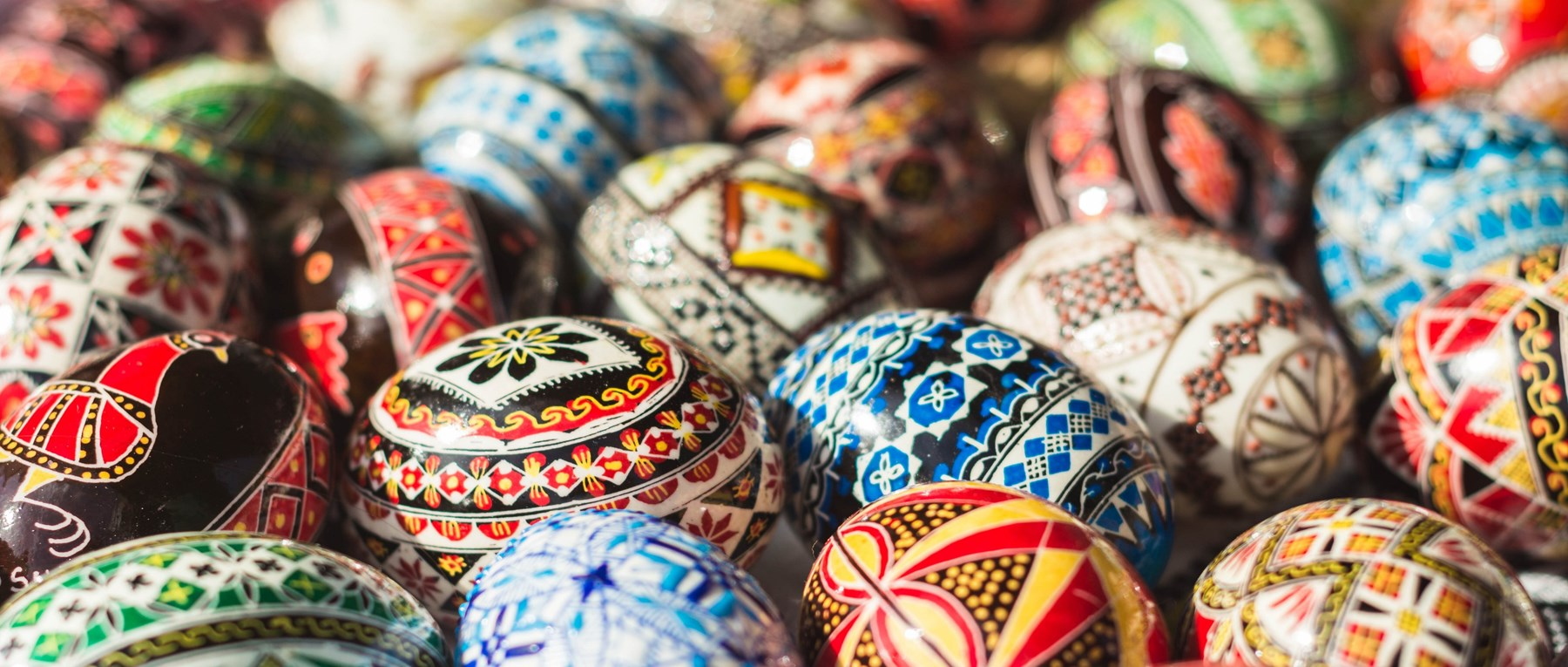 Hand-painted rustic Easter eggs