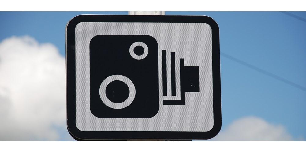 Speed camera traffic sign