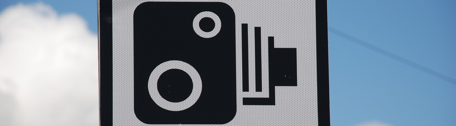 Speed camera traffic sign