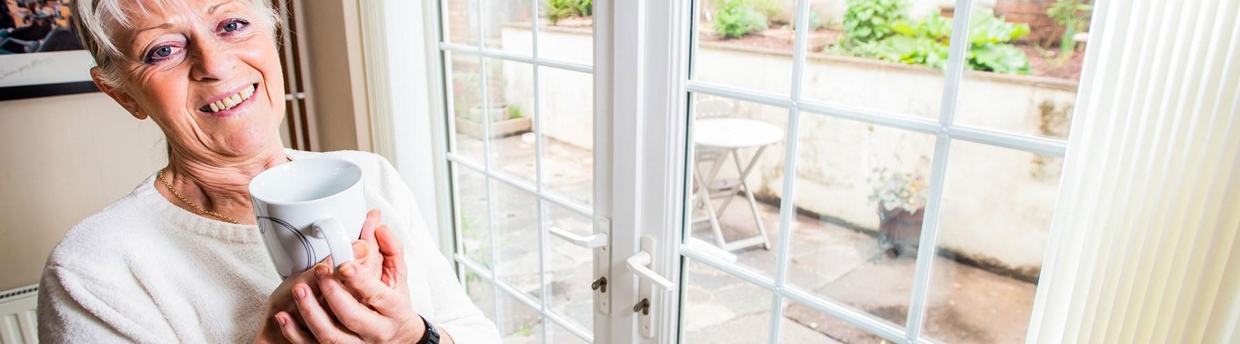 Rias customer Jilly Howard and her patio doors