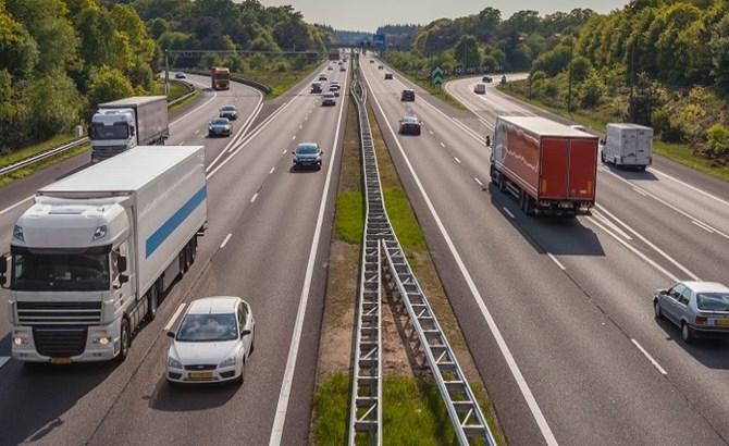 Traffic on European motorway
