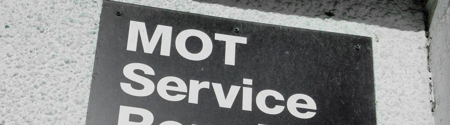 MOT service repair sign
