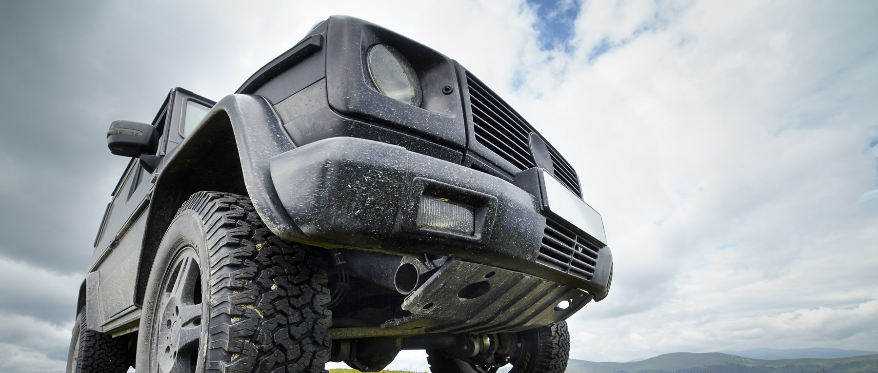 Black 4x4 car