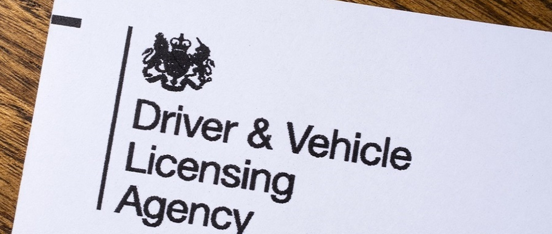 The header of a letter from the DVLA
