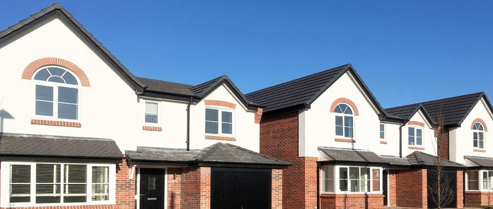 New block of houses