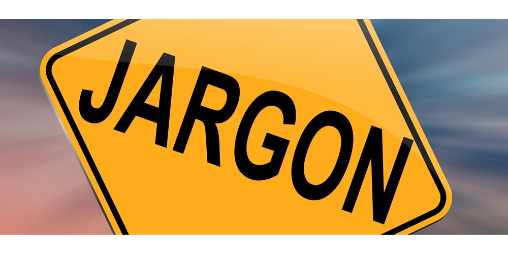 Yellow jargon traffic sign