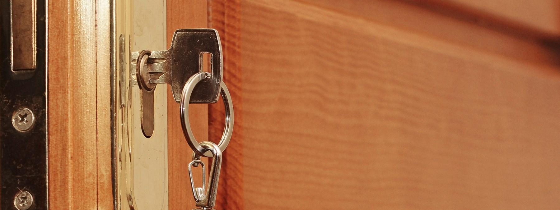 A door being locked