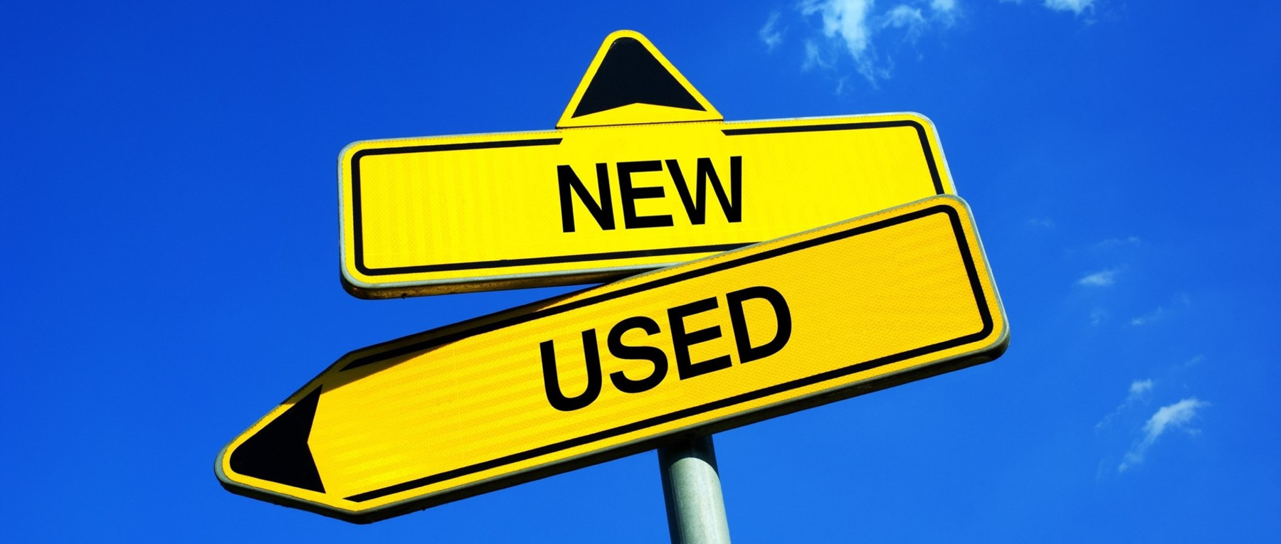 New vs used traffic signs