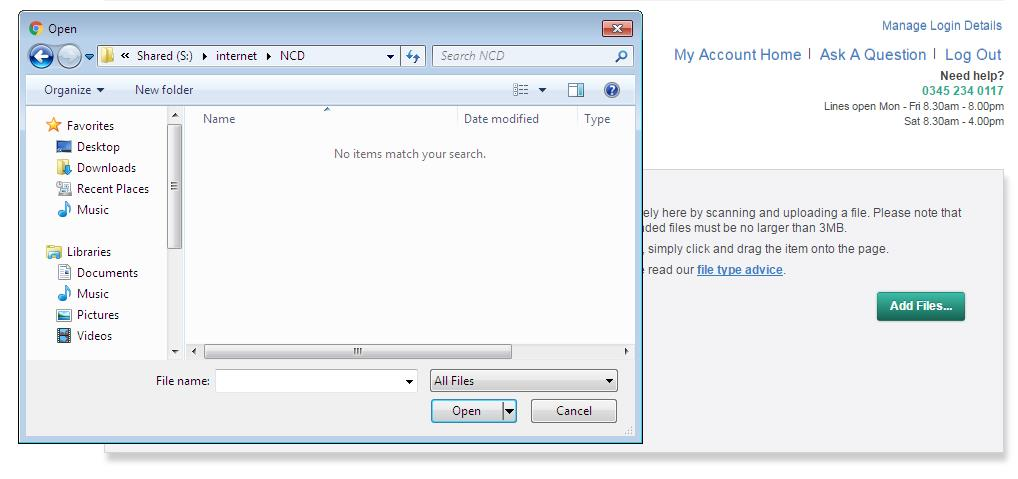 Upload NCD step 5