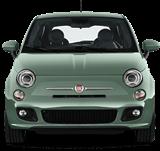 Mint green car front