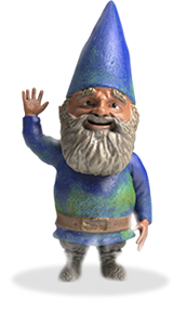 A waving gnome