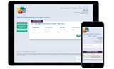 Tablet and mobile phone showing Rias online account registration page