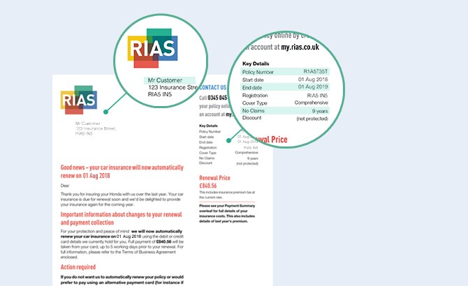 Rias renewal letter example